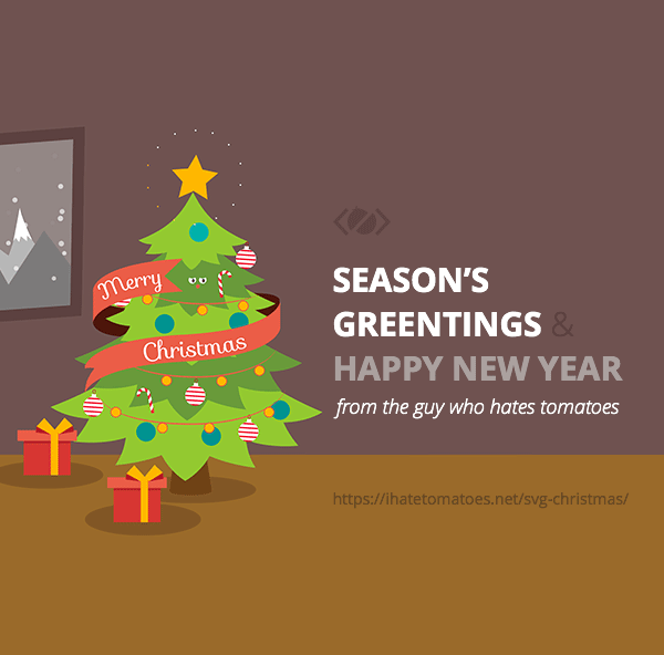 Merry Svg Christmas Happy Year Animated Card Petr Tichy Animation