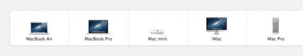 Apple shop navigation recreated using Greensock.