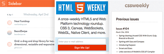 Newsletters for Front End Developers