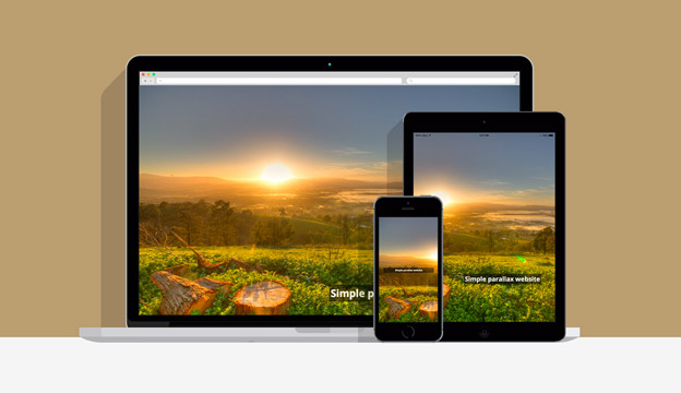 Simple Responsive Parallax Website