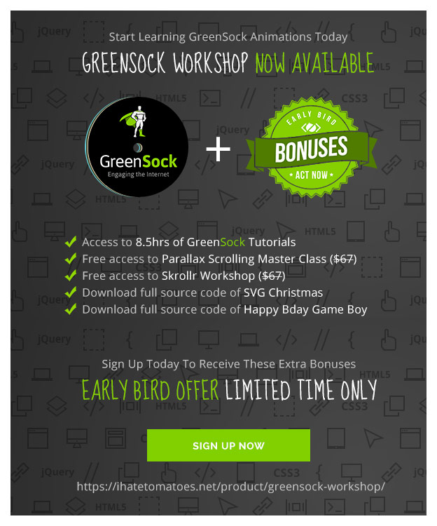Limited Time – Early Bird Offer – Sign Up Today