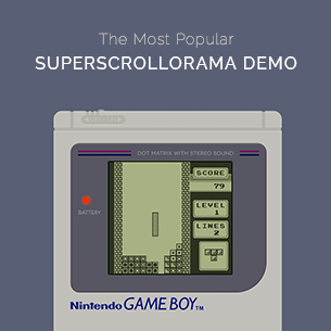 SuperScrollorama and GreenSock Demo