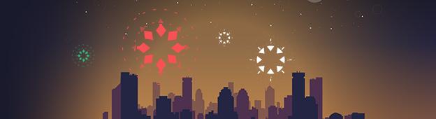 Happy New Year - GreenSock SVG Animation