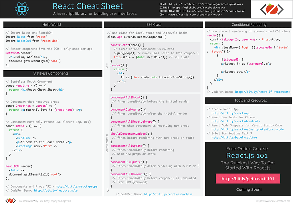 React Cheat Sheet - V0.8