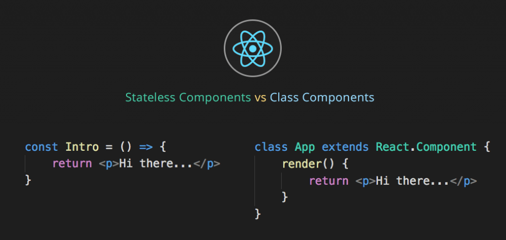 React stateless vs class components