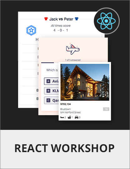 React Workshop - React Tutorials for Intermediate and Advanced Developers