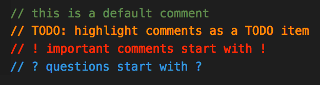 Better Comments for VScode