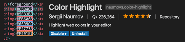Color Highlight for VSCode