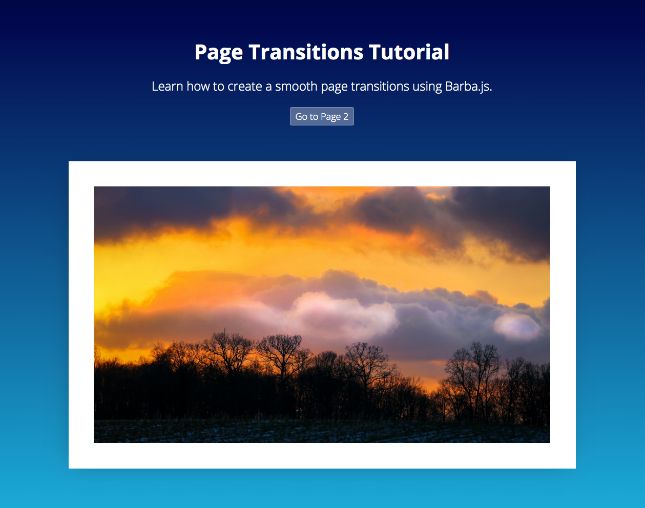 Page Transitions Tuturial