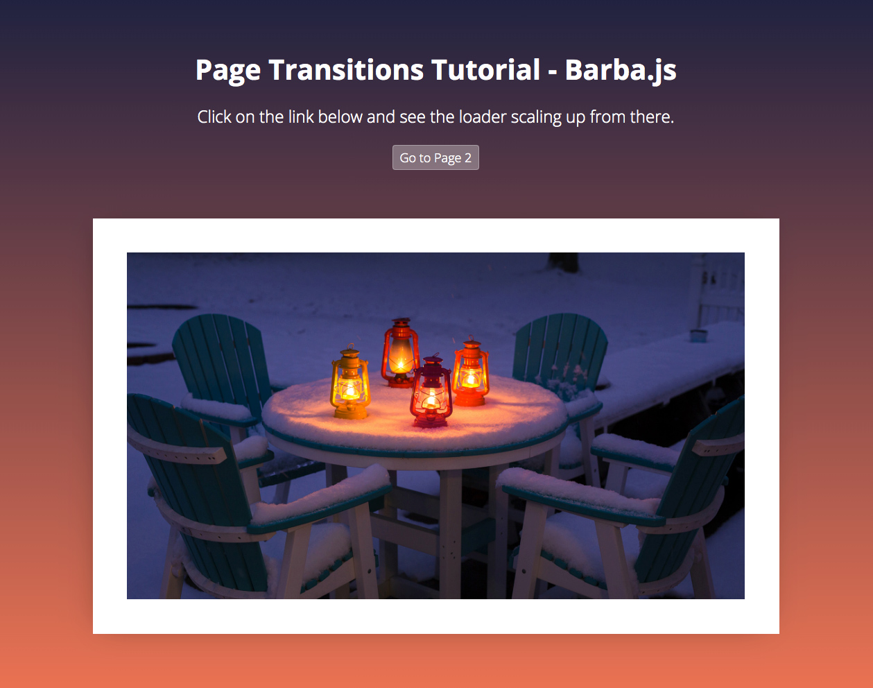 Page Transitions Tutorial