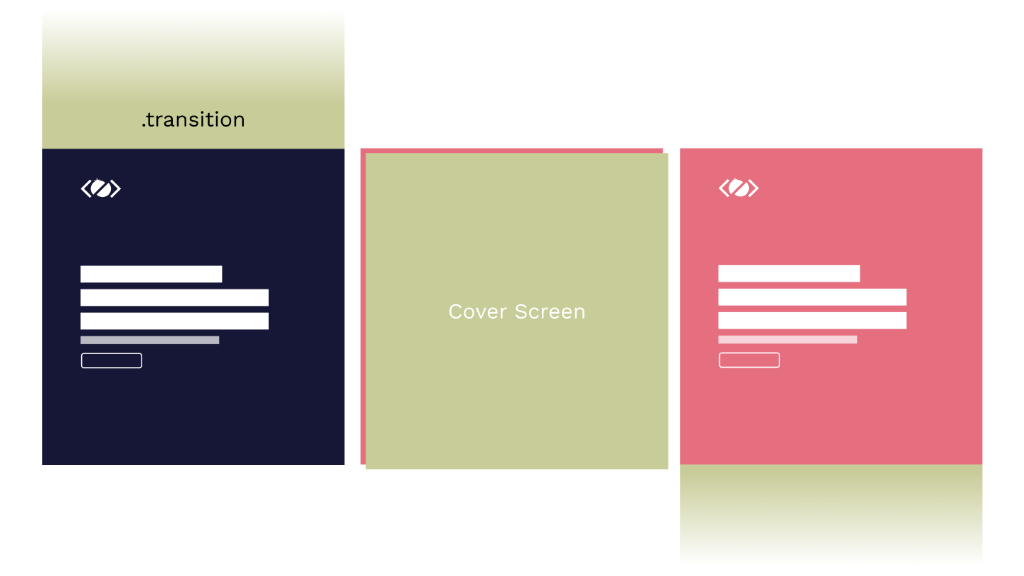 Cover page transition using Barba.js