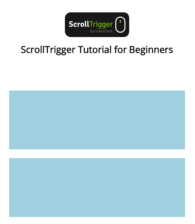 ScrollTrigger tutorial