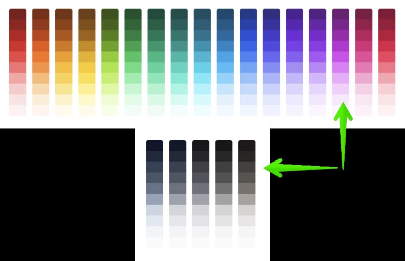 TailwindCSS 2.0 Color Scheme