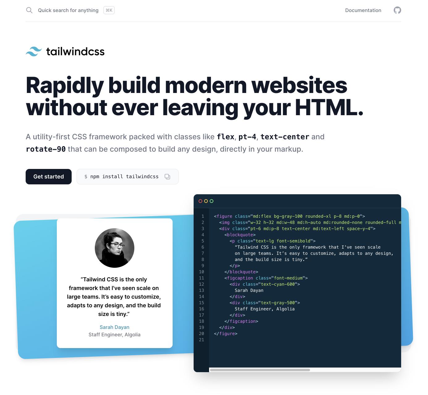 TailwindCSS 2.0 Website